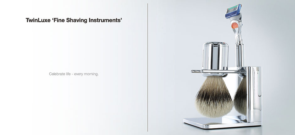 TwinLuxe Fine Shaving Instruments - modern shave sets
